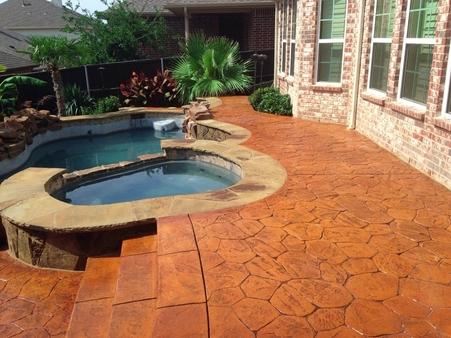 Gorgeous concrete pool deck installed in San Jose California