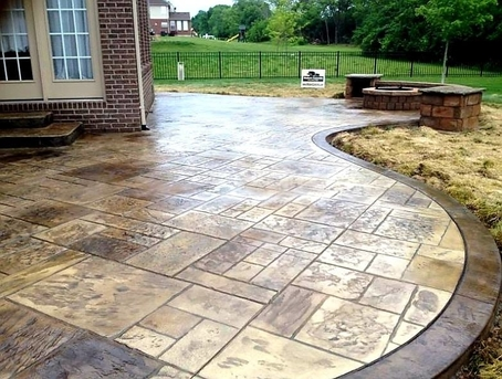 stamped concrete installed in San Jose