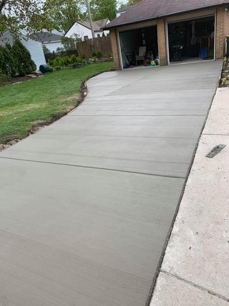 concrete driveway extension poured in san jose