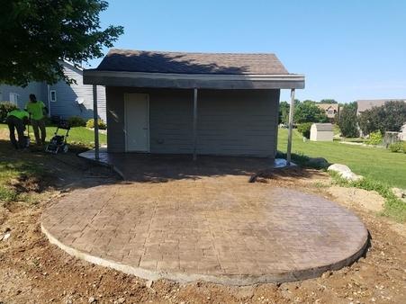 decorative concrete slab poured for a local customer