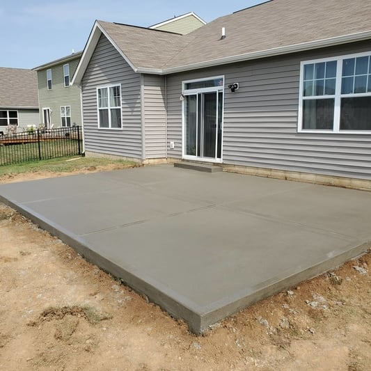 Concrete patio installed in San Jose