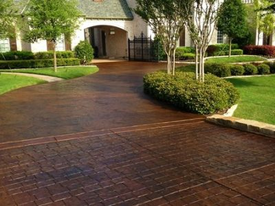 Stamped=concrete